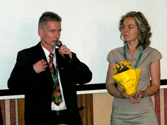 Szponzor és szponzorált: Szilágyi Szabolcs, és a frissen hálózatvezetővé vált Komporday Annamária