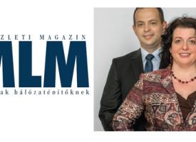 Az életépítés szakmája - Péter Ágiék sikertörténete az MLM magazinban