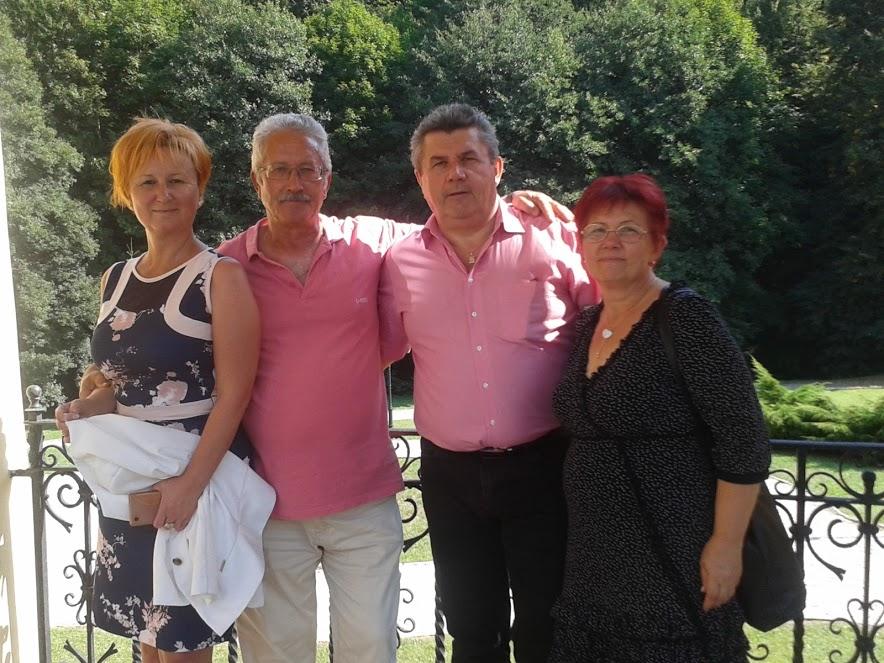 Parádsasváron az ágvezető és a hálózatvezető házaspár: Czentlaki beatrix, Egyed György, Czentlaki Zoltán és Egyedné Marika
