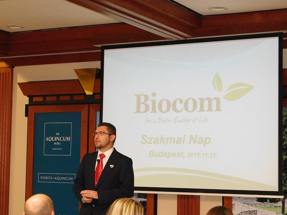 Vass Oszkár ágvezető eladásában rámutatott: a Biocom jelentős mértékű fejlődésben van, s adott mindenki számára az anyagi siker lehetősége is