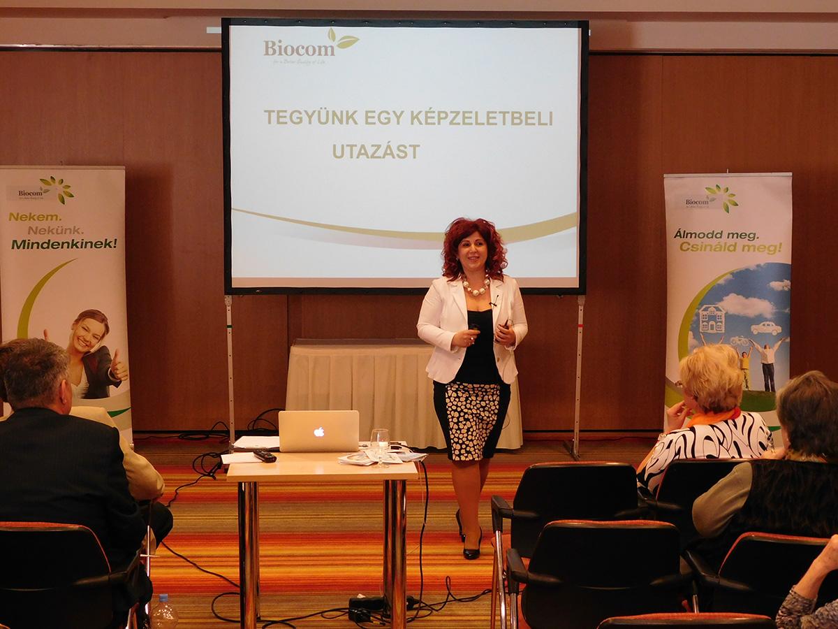 Molnárné Andrea előadásában egy képzeletbeli utazásra hívta meg a résztvevőket