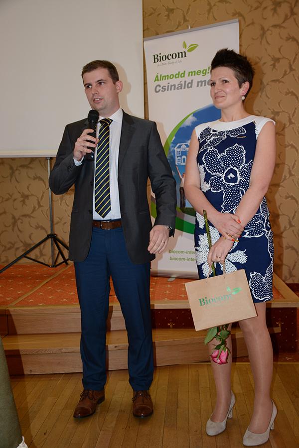 György Leonárd új hálózatvezető és (szponzora, felesége) György Emília - Péter Mária csapatából