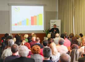 Czentlaki Zoltán ágvezető, Gyémánt Hálózatvezető több fontos előadást is tartott az első székesfehérvári rendezvényen