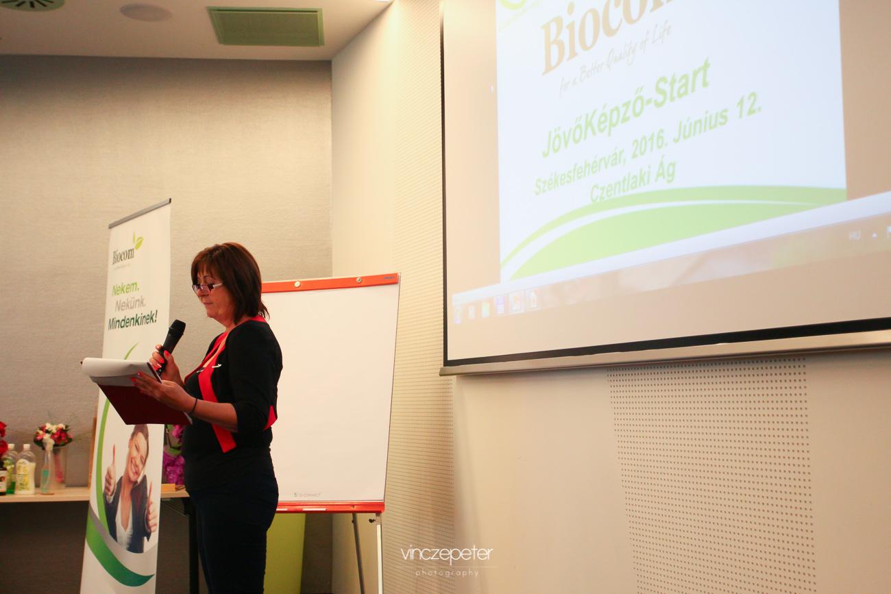 Bohus Irénke, Tóth Zsizsi egyik hálózatvezetője a vegyszermentes háztartásról tartott előadást