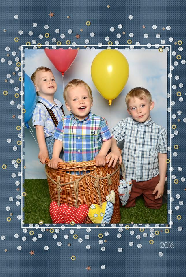 A Tasnádi-fiúk: Zsolt, Kristóf és Máté