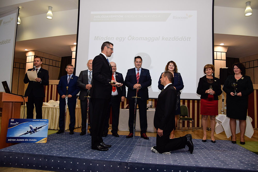 Valóban nagy pillanat: az Ökonet Lovagrend tagja lett Péter Csaba!