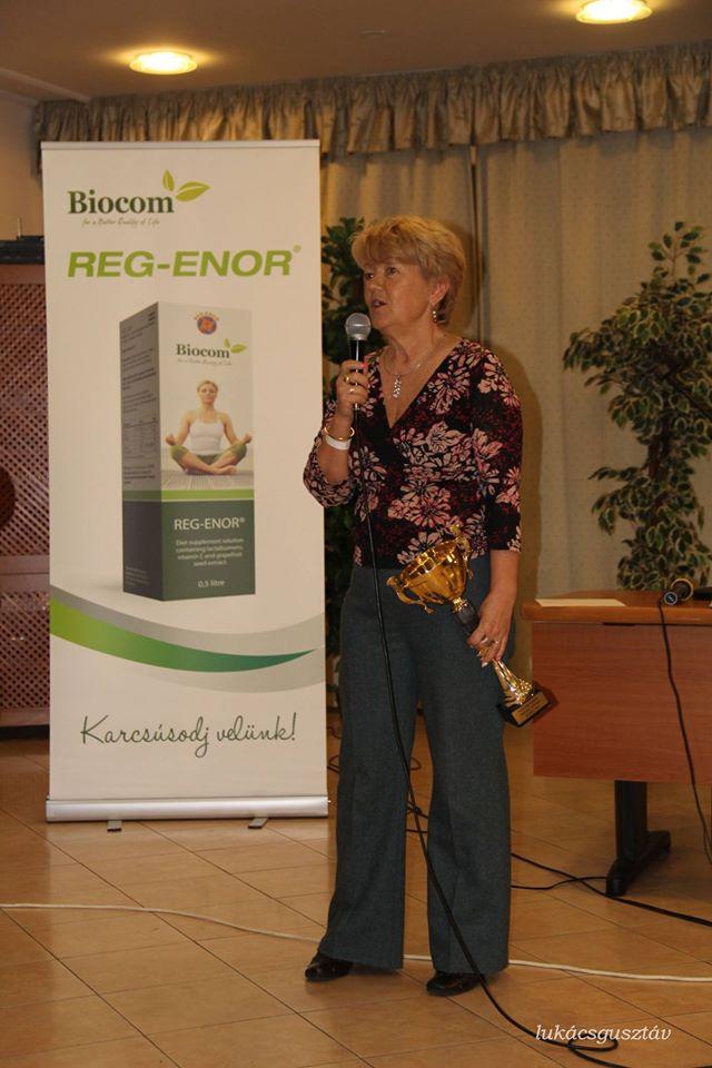 Tóthné Boncsér Anna, most már Ezüst HV, aki márciusban elnyerte csapatával a serleget a Sinka-ágon belül