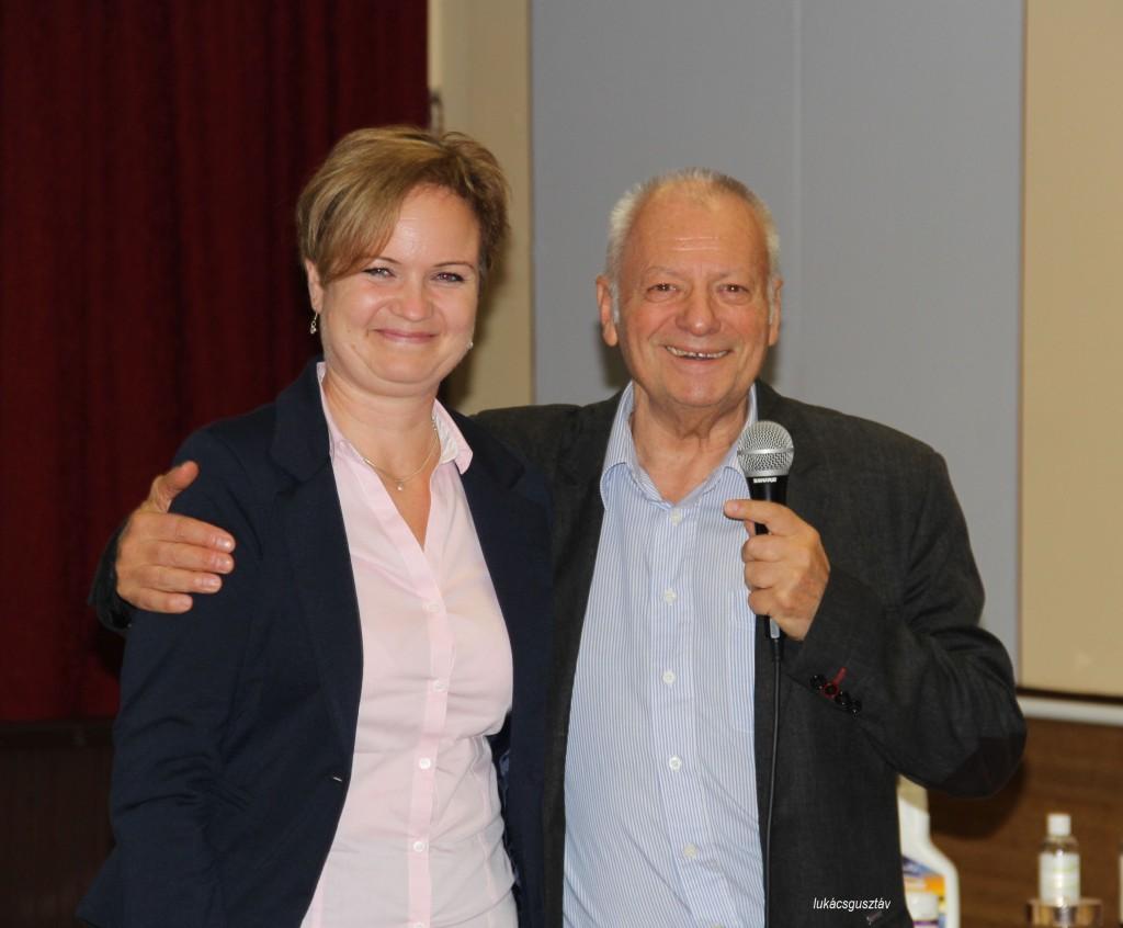 Főszervező és vendégelőadó, azaz Juhászné Papp Mónika és dr. Deák Sándor