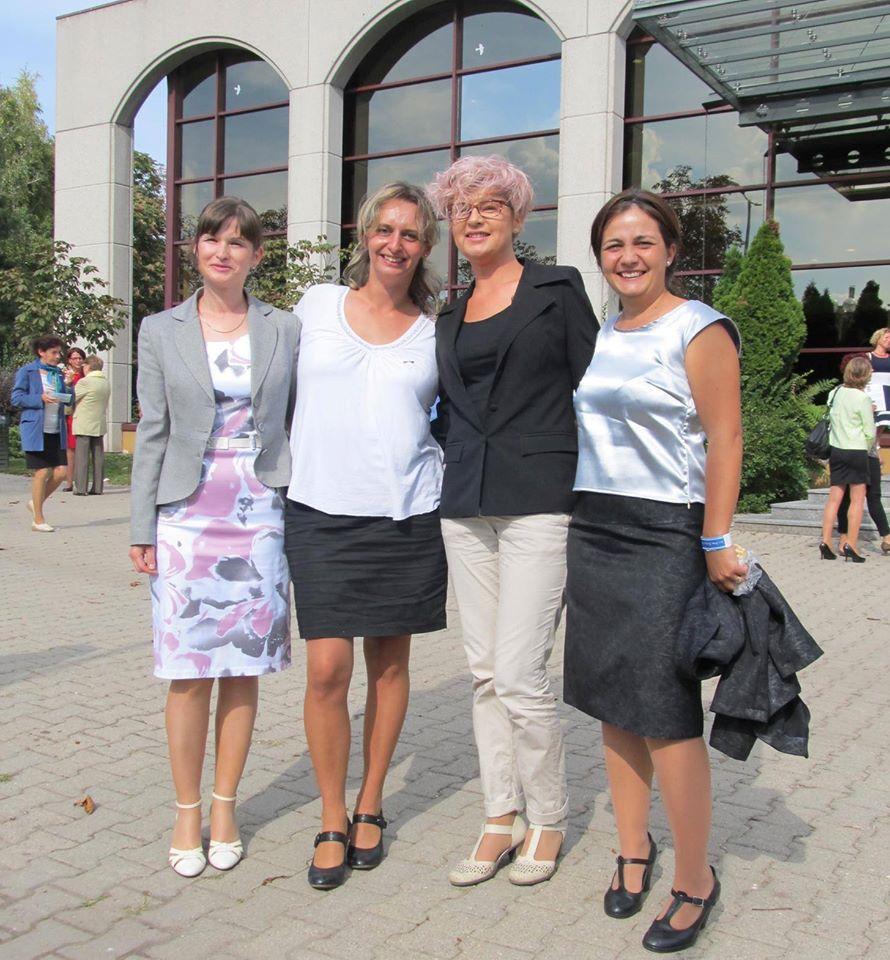 Tóbiás Erika, Hermann Judit, Gáspár Hajnalka, Schwarczkopf Enikő a nemzetközi találkozón, Budapesten