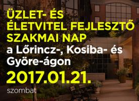ÜZLET- ÉS ÉLETVITEL FEJLESZTŐ SZAKMAI NAP a Lőrincz-, Kosiba- és Györe-ágon