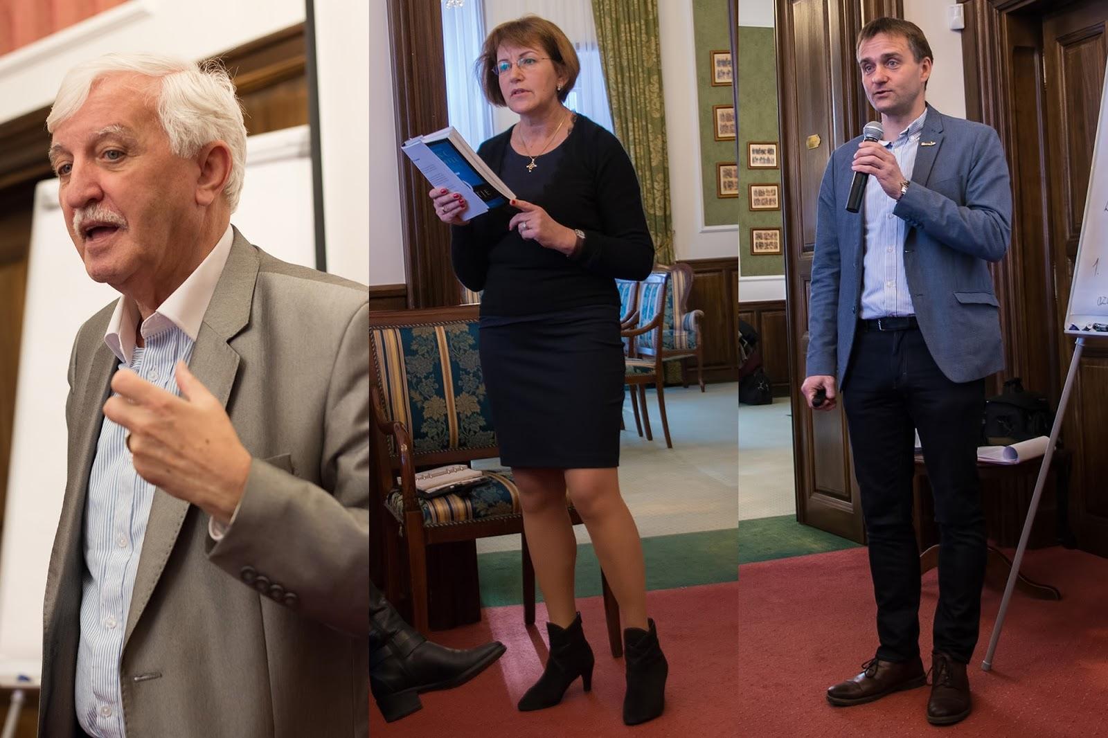 Három csodálatos szakmai előadó: Tonk Emil, Lőrincz Marika, Tarczy Gyula