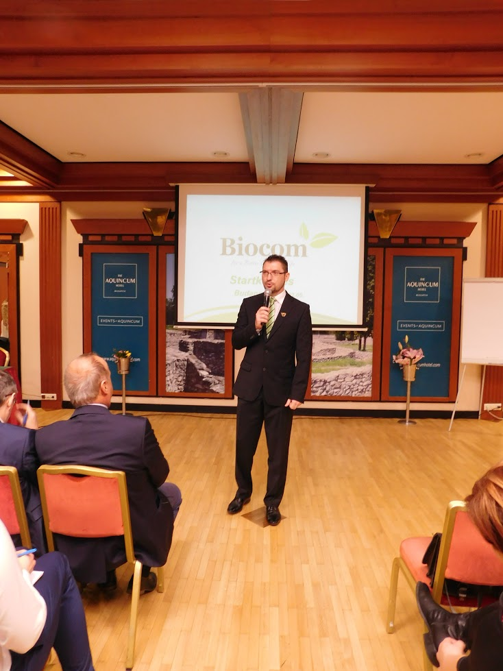 Vass Oszkár az üzleti alapokról szólt és hangsúlyozta: a Biocom biztonságot ad!