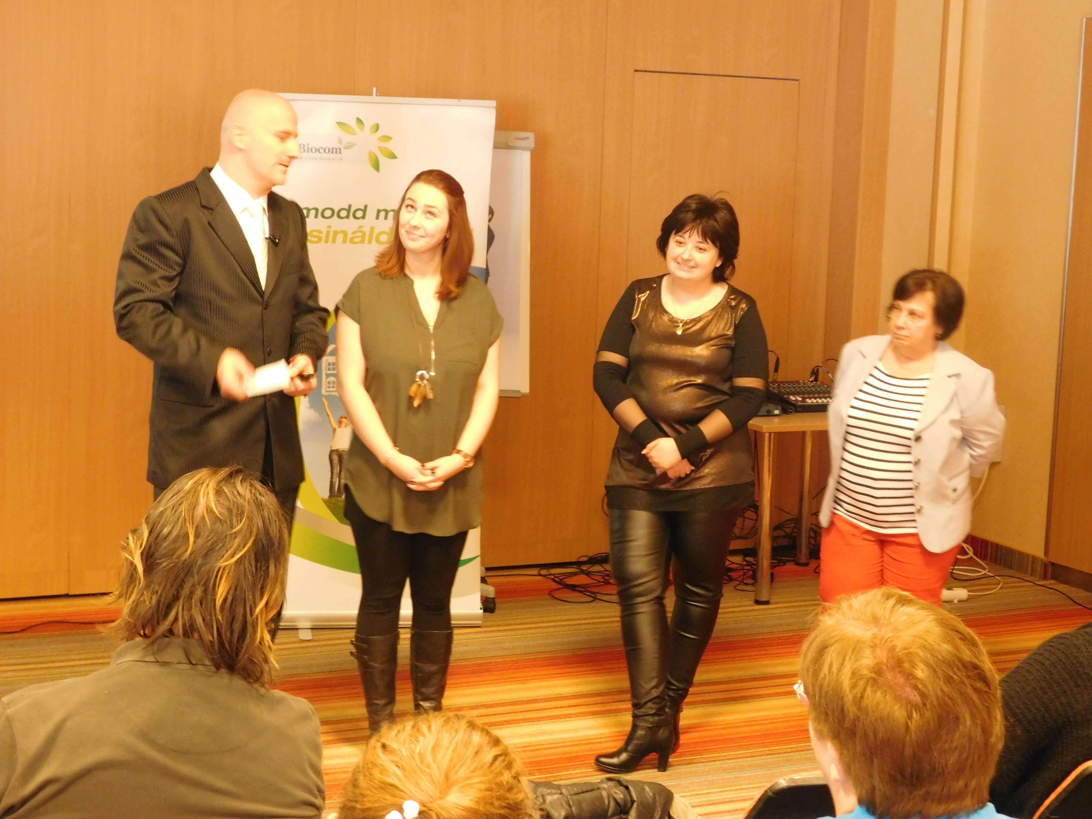Hogyan lehet megcsinálni egy hónap alatt a hármas szintet? Dankó János (balra) konferálásában friss példákon keresztül ez is elhangzott.