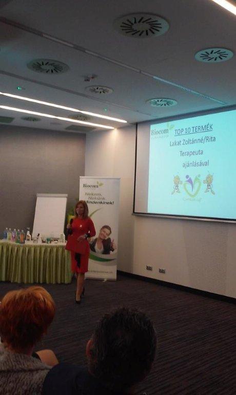 Lakat Zoltánné tartott nagyon hasznos előadást a legnépszerűbb Biocom termékekről