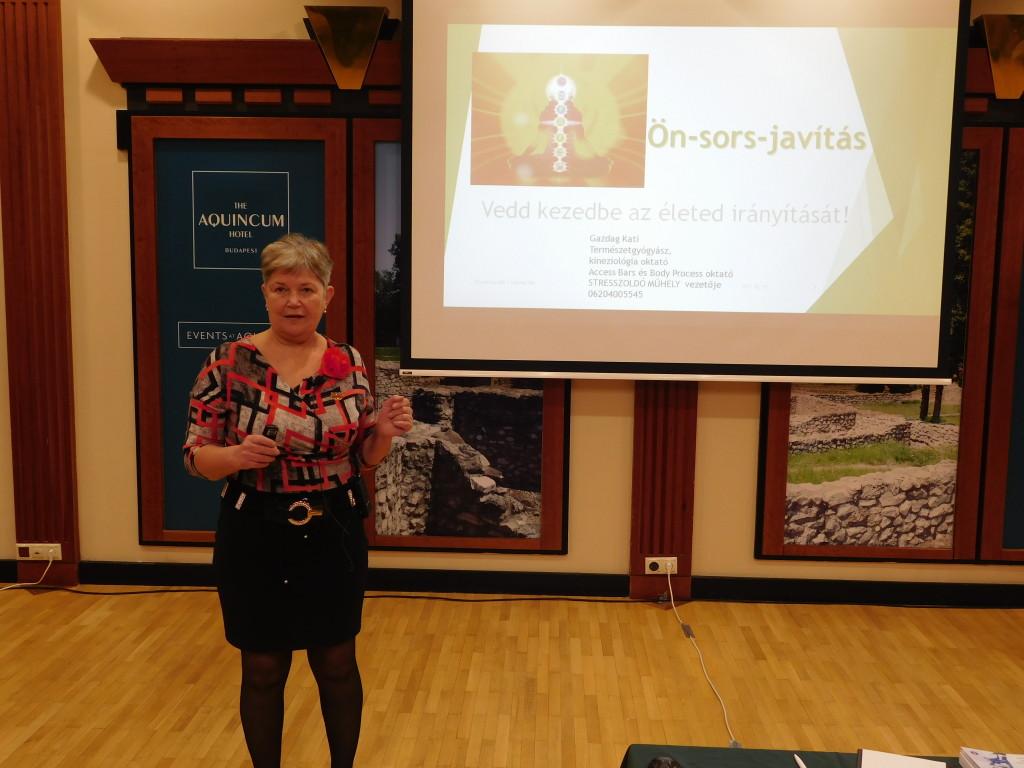 Gazdag Katalin, aki végtelenül hasznos előadást tartott az önsors-javításról
