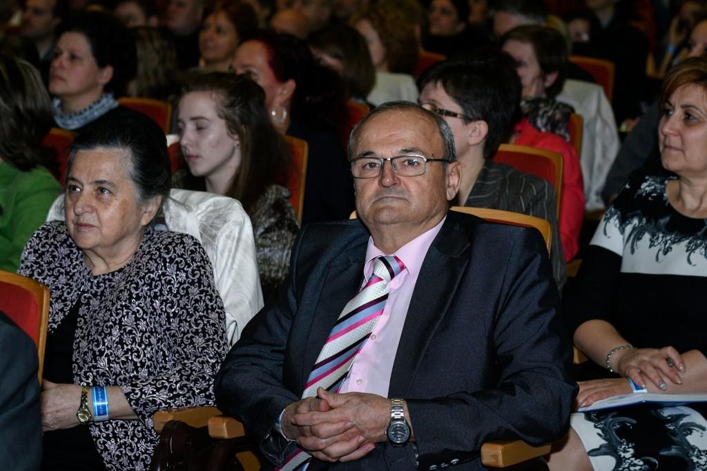 Szabó Sigfrid, a Reg-Enor Géniusz-díjas feltalálója oldalán párjával, Erzsikével