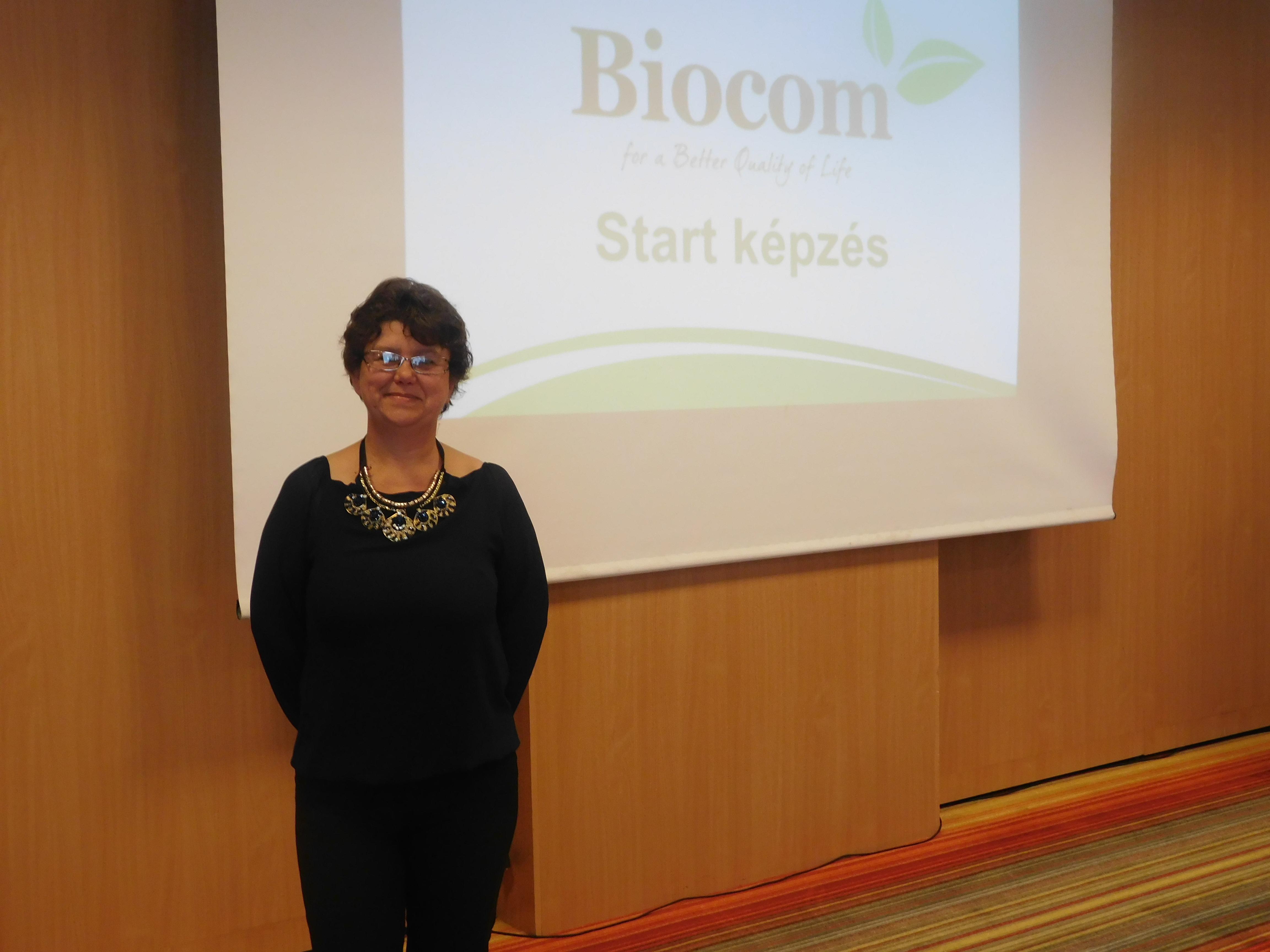 """Olasz Ildikó előadásának témája: """"Jövőd, lehetőségeid a Biocommal"""""""