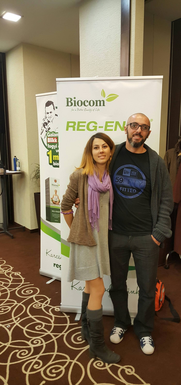 Ferenczi Xénia a férjével, Csongorral, aki mindenben támogatja
