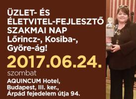 Üzlet- és Életvitelfejlesztő Szakmai Nap a Lőrincz-, Kosiba- és Györe-ágon, szombaton