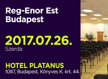 Reg-Enor Est Budapesten, július 26-án
