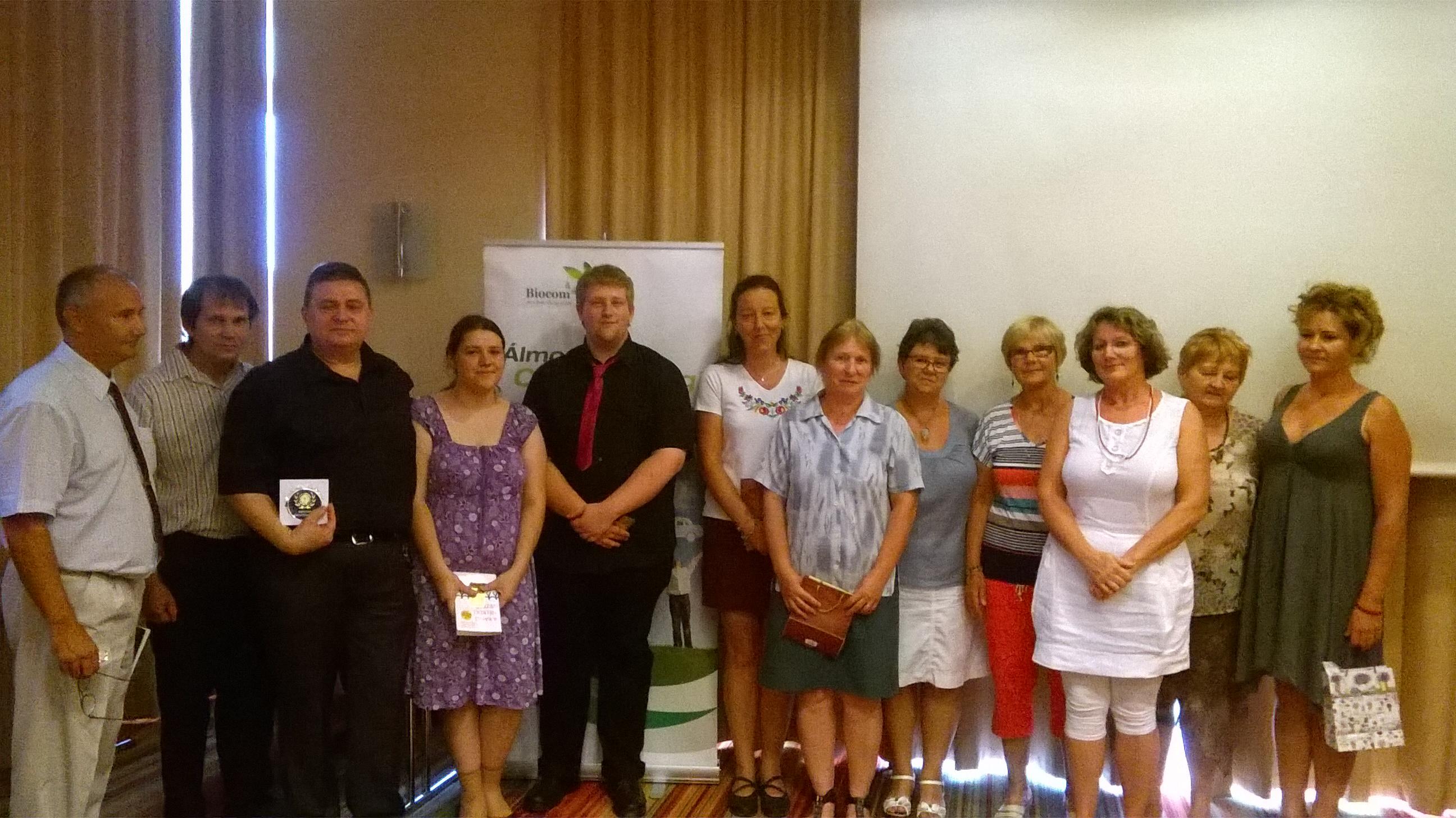 A minősültek köszöntése a Molnár-ág Startképzésén, augusztusban