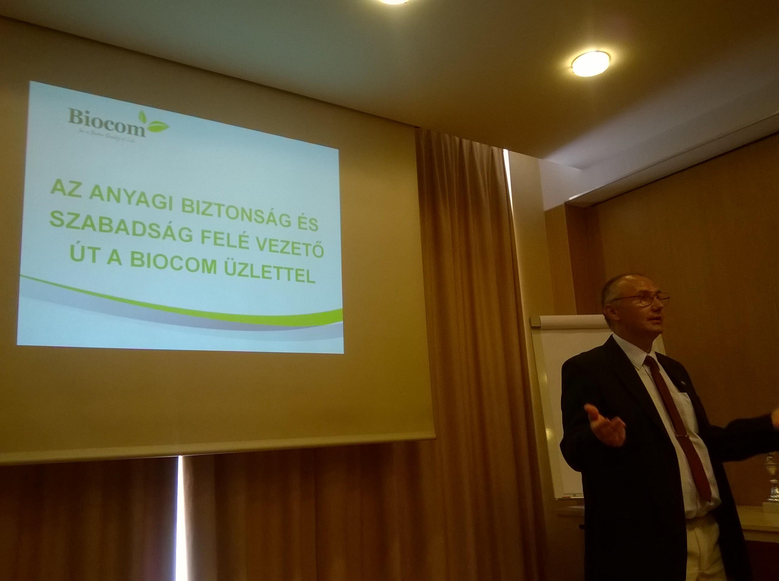 Tóth Gábor előadása arról: hogyan jön a pénz a Biocomból?