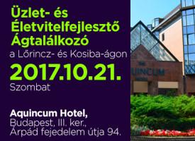 Üzlet- és Életvitelfejlesztő Ágtalálkozó a Lőrincz- és Kosiba-ágon, szombaton