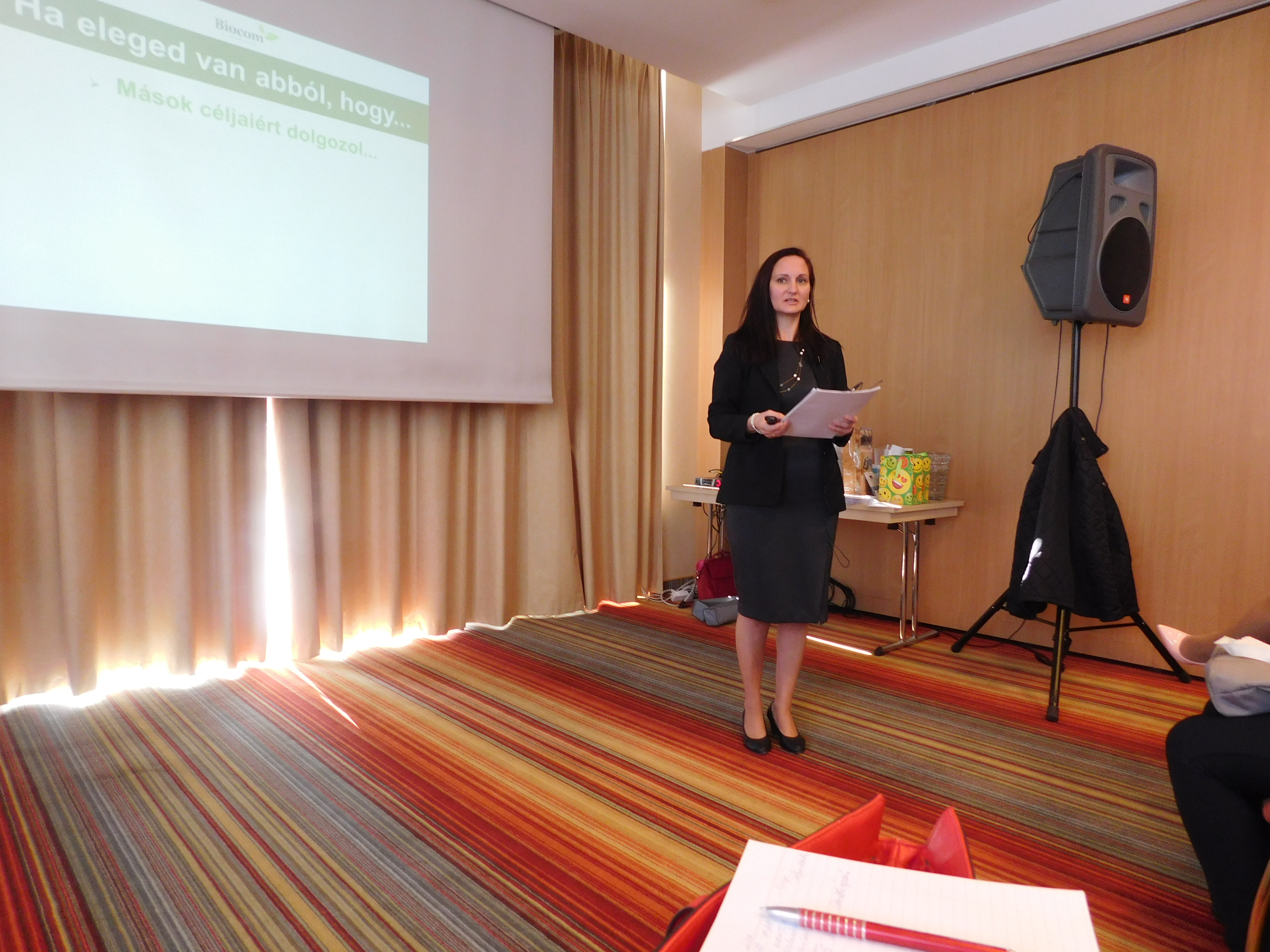 Zsóriné Deák Erzsébet már hatos szinten van és kiváló előadó