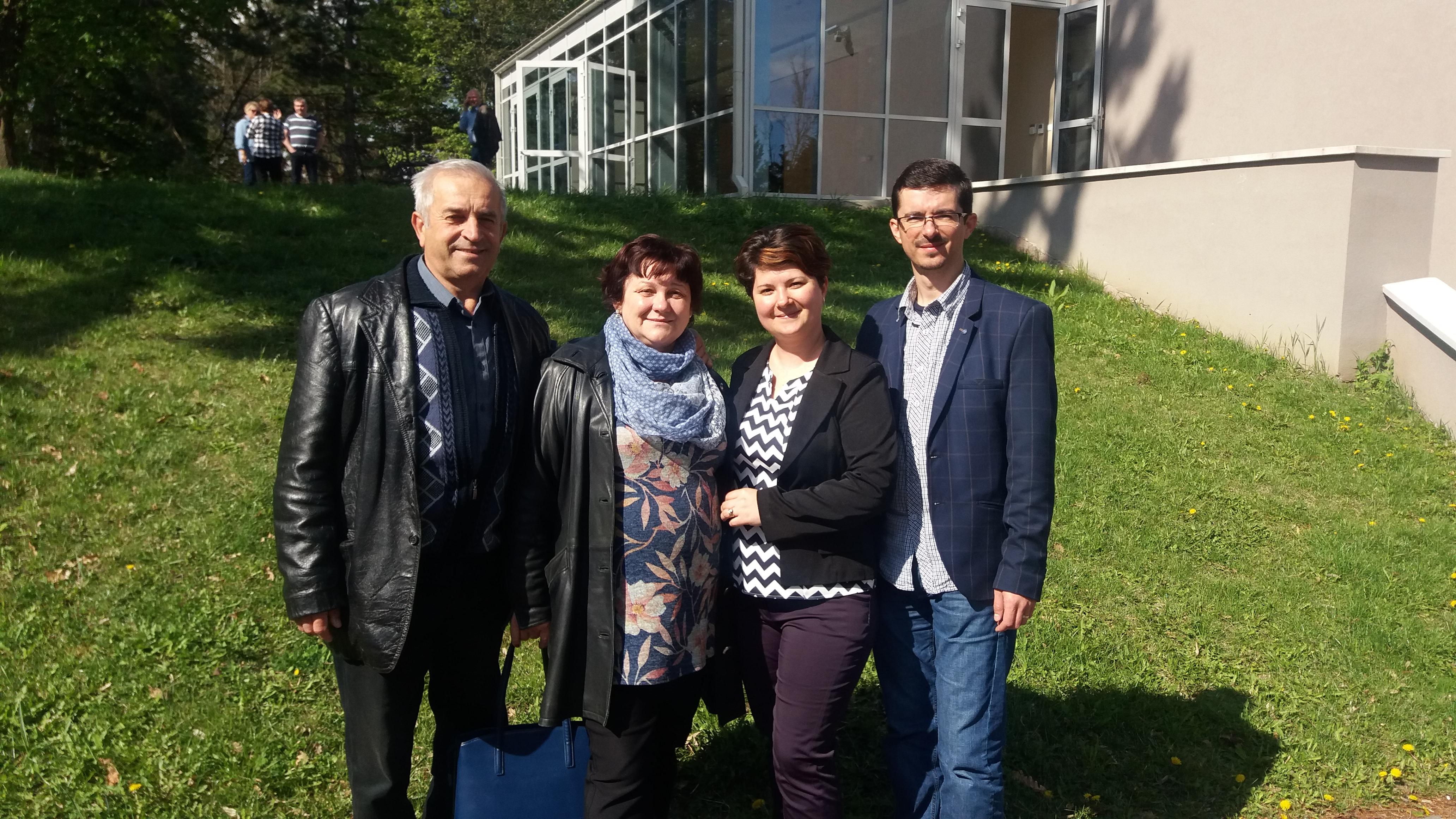 Meleg Miklós, Melegné Liszkai Katalin, Kovács Anrdea és Kovács Levente a 2017. áprilisi, szilvásváradi vezetőképzőn