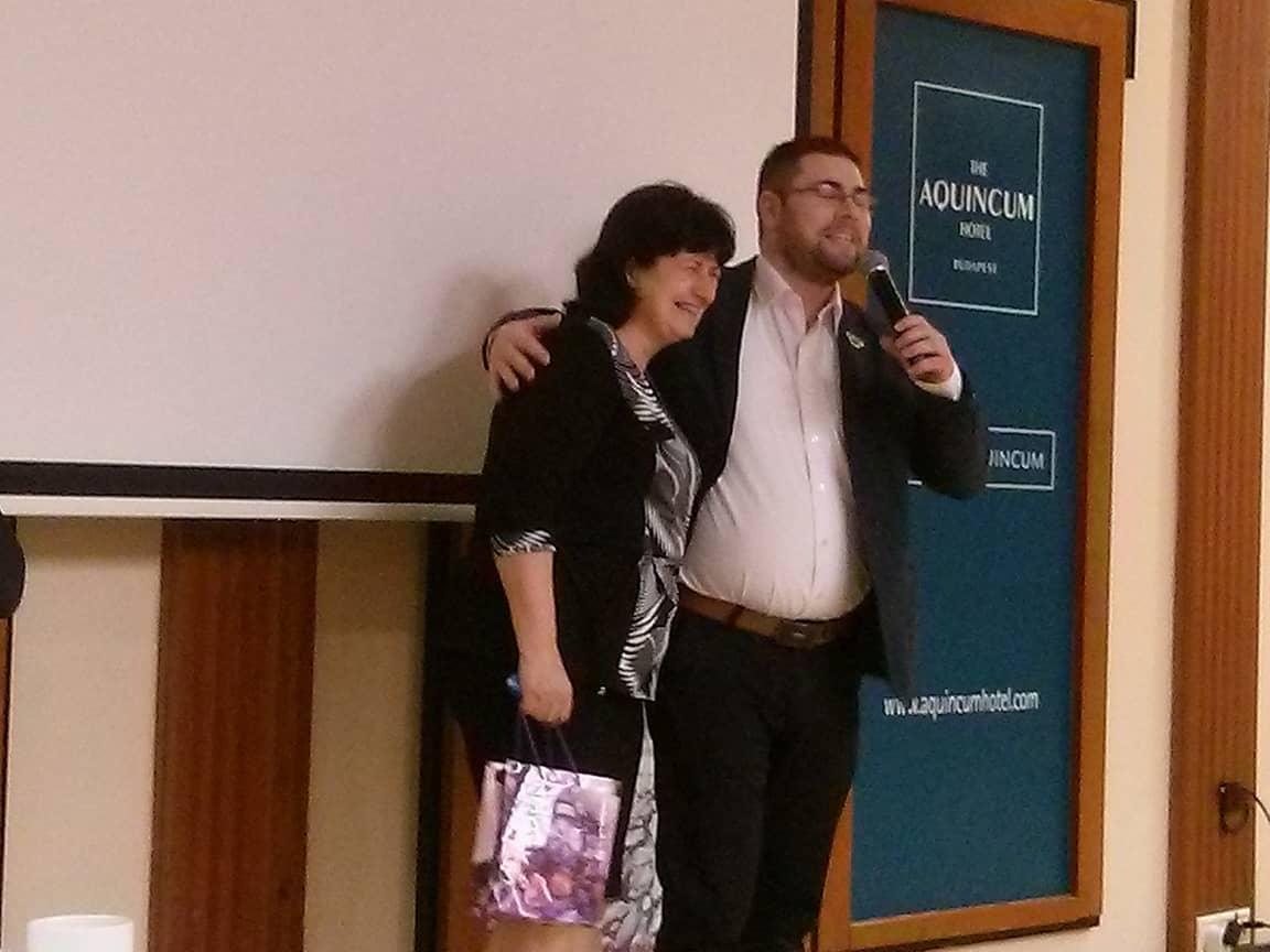 Anya és fia, azaz, most már két Biocom vezető. Kiss Veronika és Kis Gergely.