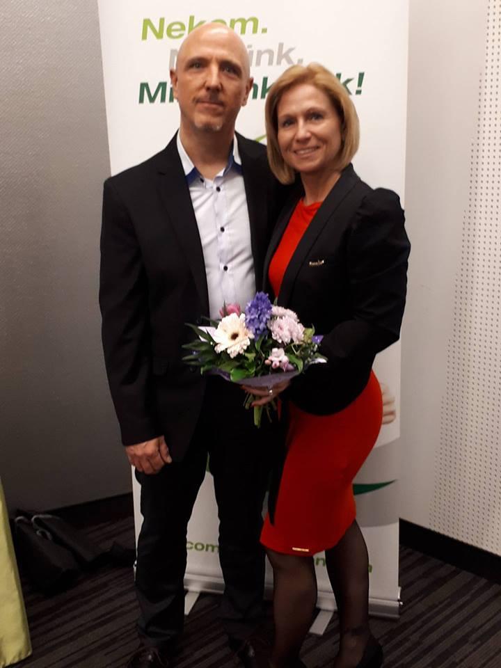 A koordinátor és segítője, társa, Lakat Zoltán