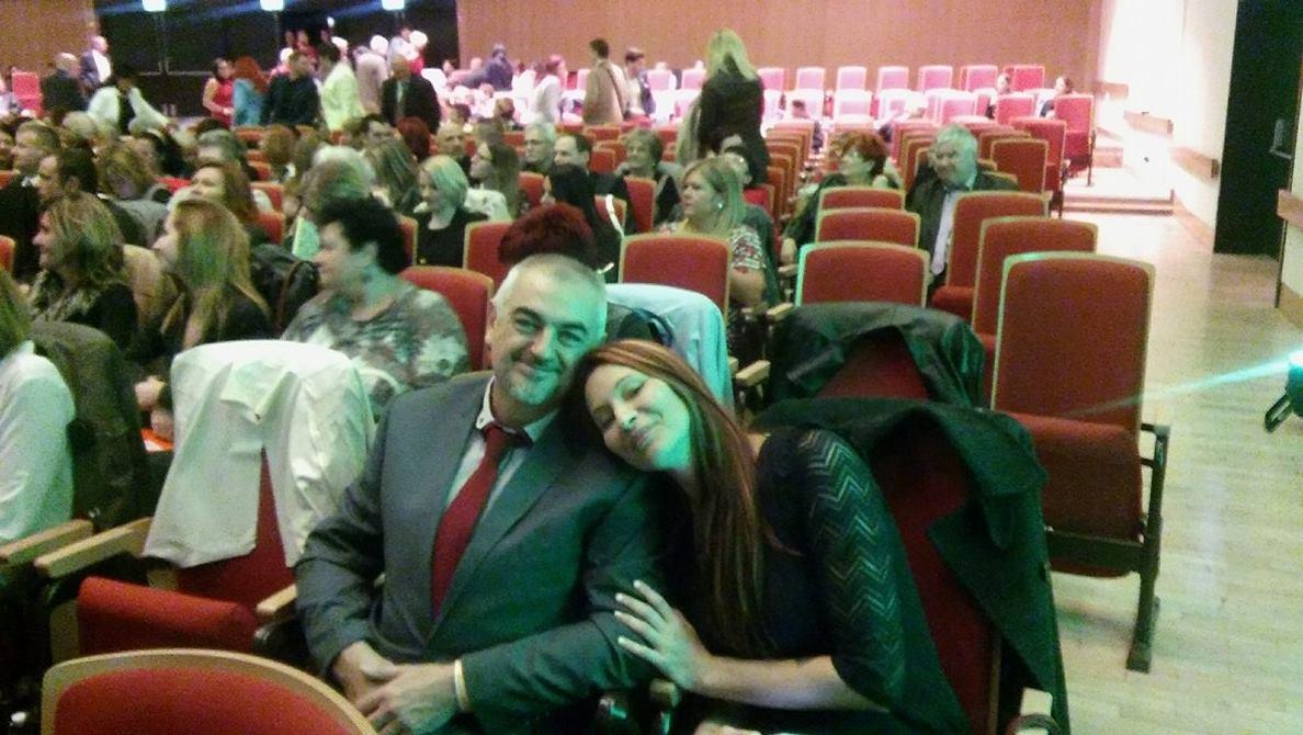 Krokker Sándor a feleségével egy nemzetközi nagyrendezvényen, Budapesten