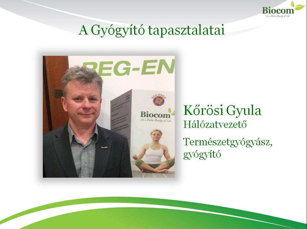Kőrösi Gyula a termékeket kiemelten kezeli az üzletépítésben