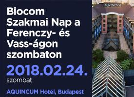 Biocom Szakmai Nap a Ferenczy- és Vass-ágon szombaton, Budapesten