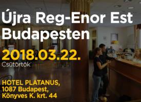 Újra Reg-Enor Est Budapesten, március 22-én