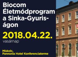 Képzés a Biocom Életmódprogramról a Sinka-Gyuris-ágon vasárnap, Miskolcon