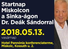 Startnap Miskolcon a Sinka-ágon dr. Deák Sándorral