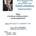 Tonk Emil üzleti előadása Salgótarjánban