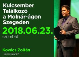 Kulcsember Találkozó szombaton, Szegeden a Molnár-ágon
