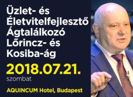 Üzlet- és Életvitel-fejlesztő Ágtalálkozó a Lőrincz- és Kosiba-ágon