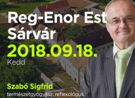Reg-Enor Est Szabó Sigfriddel Sárváron