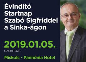 Évindító Startnap Szabó Sigfriddel Miskolcon, a Sinka-ágon