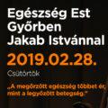 Egészség Est Győrben Jakab Istvánnal