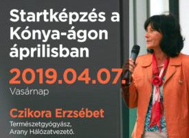 Startképzés a Kónya-ágon áprilisban, Budapesten