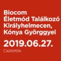 Biocom Életmód Találkozó Királyhelmecen, Kónya Györggyel