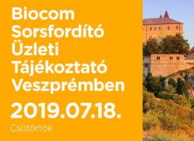 Biocom Sorsfordító Üzleti Tájékoztató Veszprémben