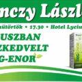 Koktél party Debrecenben Ferenczy Lászlóval, fókuszban a Reg-Enor