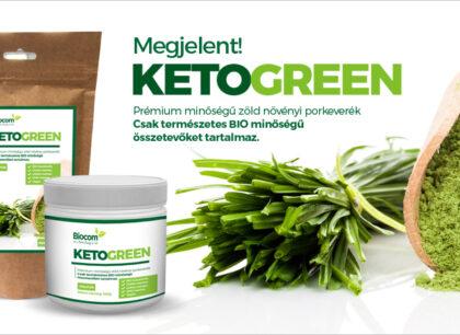 A nagy zöld, Biocom italpor: KETOGREEN – Növényi élelmiszer porkeverék prémium minőségben