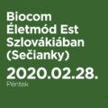 Biocom Életmód Est Szlovákiában (Sečianky)