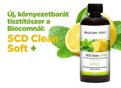 Új, környezetbarát tisztítószer a Biocomnál: SCD Clean Soft +